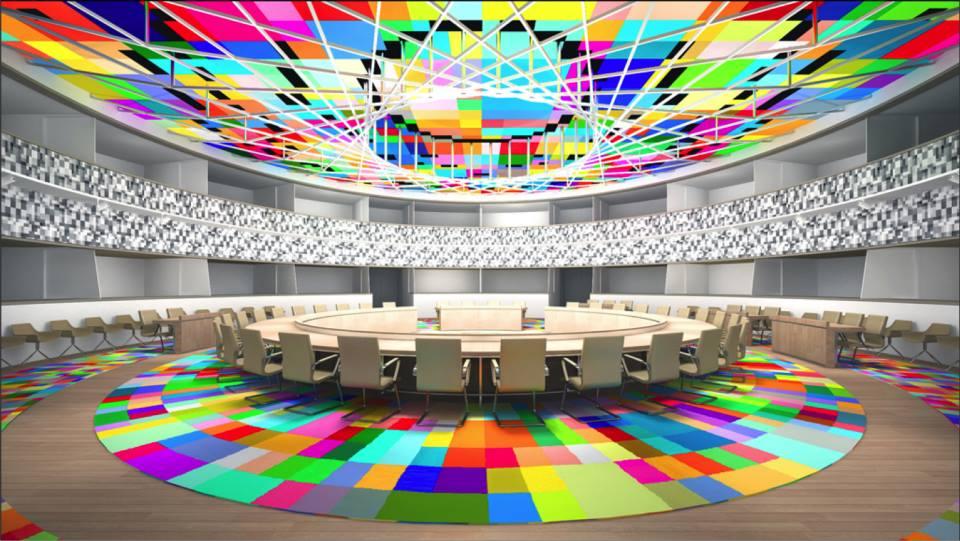 Salle de réunion des chefs d'état - Conseil Européen