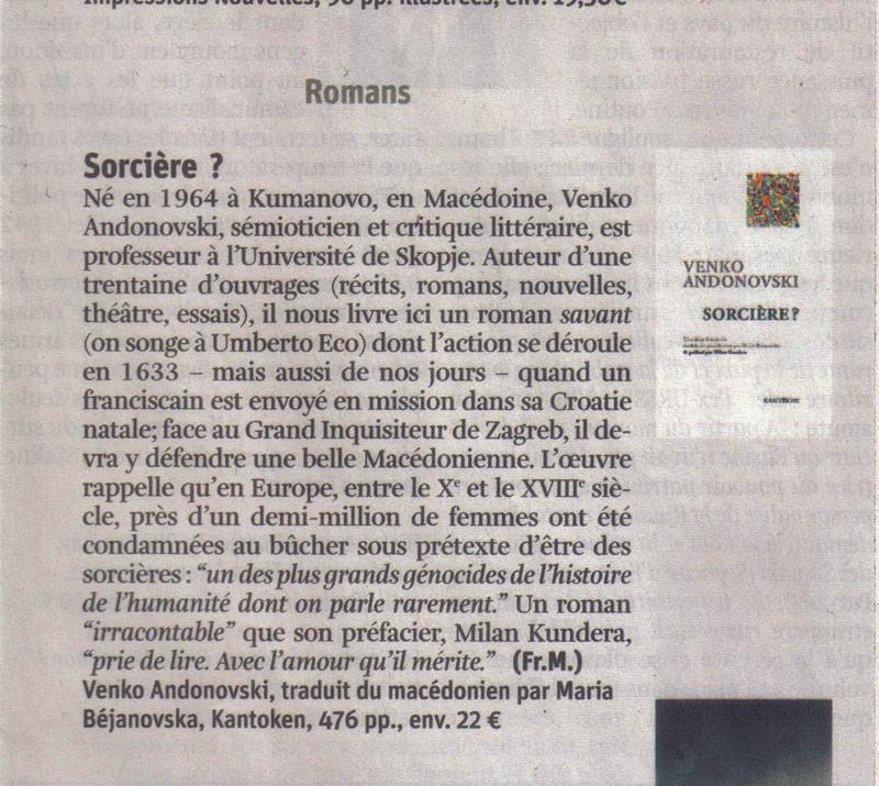 """19/01/2015 supplément """"Lire"""" de La Libre, p.5"""
