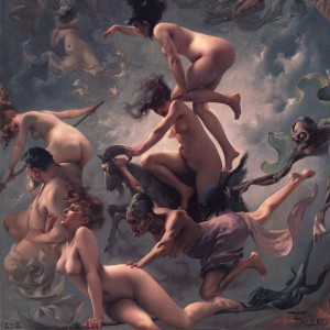 Luis Ricardo Falero (1851-1896) : Witches going to their Sabbath (1878)